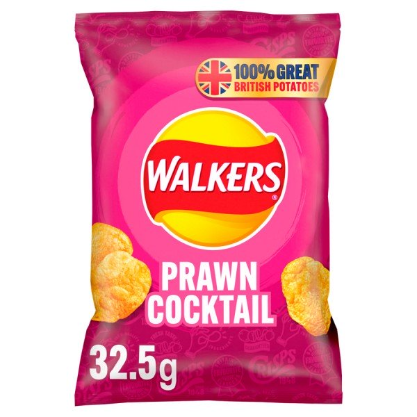 Walkers Crisps Chips Prawn Cocktail 32 x 32,5g