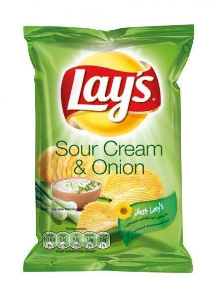 Lays Chips Sour Cream and Onion 80 x 27,5g