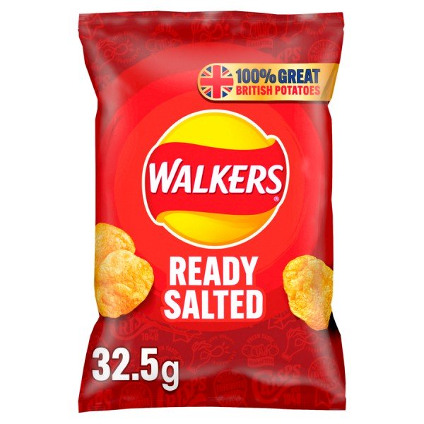 Walkers Crisps Chips Ready Salted 32 x 32,5g